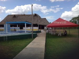 Neat little restaurant built around a swimming pool on the road between the toll road and Chilaquila, the port for the Holbox Island ferry.