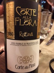 I think we drank all the Corte alla Flora Wine except for one bottle which we finished off a couple of nights later.
